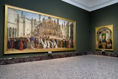 Brera galeria sztuki, Mediolan Obraz Stock