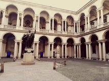 Brera Pinacoteca gård arkivfoto
