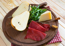 Bresaola appetizer Royalty Free Stock Images