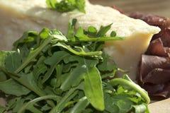 Bresaola arugula and parmesan Royalty Free Stock Photo