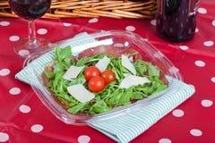 Bresaola ed insalata del parmigiano Immagini Stock