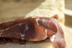 Bresaola and parmesan Stock Image