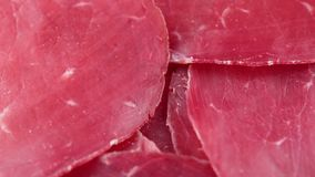 Bresaola, red meat. Bio for restaurant stock video