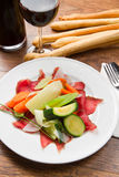 Bresaola with vegetables Stock Photos