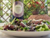 Bresaole & салат arugula Стоковая Фотография