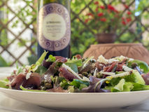 Bresaole & salada da rúcula Fotografia de Stock
