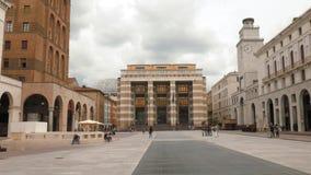 """Brescia - Ιταλία: Πανοραμική άποψη της πλατείας Vittoria† della """"Piazza απόθεμα βίντεο"""