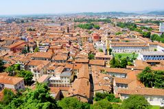 Brescia. Aereal view of Brescia city from the castle Royalty Free Stock Photos