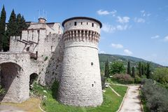 Brescia Castle, Italy Stock Photography