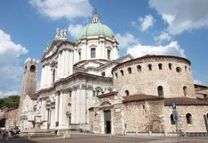 Brescia Cathedral Stock Images