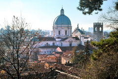 Brescia center town. Brescia center from the castle Royalty Free Stock Photo