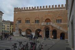 Brescia central fyrkant, Italien arkivfoto
