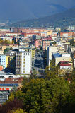 Brescia city street view from above, Lombardy Italy Royalty Free Stock Photos