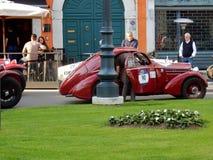 Brescia - coche histórico para 1000 millas Fotos de archivo libres de regalías