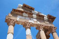 Brescia - The columns of roman ruins of Capitolium Royalty Free Stock Photography