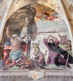 Brescia - Fresco from life of St. Jerome, Francis, Mary of Magdalen, Anthony and Paul Royalty Free Stock Photography