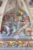 Brescia - freskomålningen av Martyrium av St Margaret i kyrkliga Chiesa del Santissimo Corpo di Cristo Royaltyfria Bilder