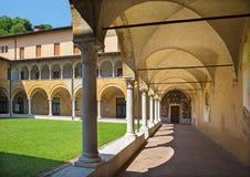 BRESCIA, ITALIË, 2016: Het atrium van kerkchiesa del Santissimo Corpo Di Cristo Stock Afbeeldingen