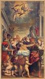 BRESCIA, ITALIA, 2016: La masacre de la pintura del Innocent en los di Santa Maria del Carmine de Chiesa de la iglesia stock de ilustración
