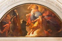 BRESCIA, ITALIA, 2016: La st di verniciatura Theriesia al proposito di trinità santa in Chiesa di San Pietro in Olvieto Immagine Stock