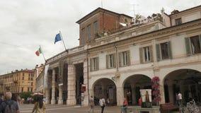 Brescia - Italia: Vista de Teatro grande (gran teatro) almacen de metraje de vídeo