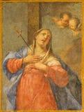 BRESCIA, ITALIEN, 2016: Die Dame des Sorgenfreskos u. des x28; Madonna Adolorata& x29; in der Kirche Chiesa di San Giuseppe durch Lizenzfreie Stockfotografie