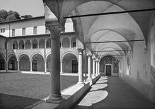 BRESCIA ITALIEN - MAJ 21, 2016: Hjärtförmaken av kyrkliga Chiesa del Santissimo Corpo di Cristo Arkivfoton