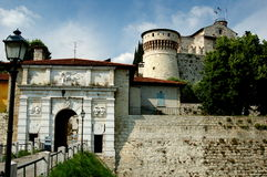 Brescia, Italy: 1343 Castello Stock Photo
