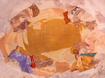 BRESCIA, ITALY, 2016: The ceiling fresco of Four Evangelists Stock Photography