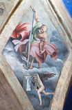BRESCIA, ITALY, 2016: The ceiling fresco of Saint James the Less in church Chiesa del Santissimo Corpo di Cristo Royalty Free Stock Photo