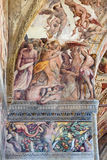 BRESCIA, ITALY, 2016: The detail of fresco of Last Judgment Royalty Free Stock Photos
