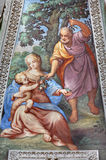 BRESCIA, ITALY, 2016: The Fresco of Holy Family in apse of St. Joseph chapel in church Chiesa di San Francesco d& x27;Assisi Stock Image