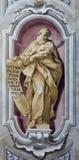BRESCIA, ITALY, 2016: The fresco of prophet Daniel of Chiesa di Sant'Afra church by Sante Cattaneo. BRESCIA, ITALY - MAY 23, 2016: The fresco of prophet Daniel Stock Photos