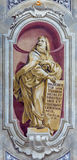 BRESCIA, ITALY, 2016: The fresco of prophet Ezekiel of Chiesa di Sant'Afra church. BRESCIA, ITALY - MAY 23, 2016: The fresco of prophet Ezekiel of Chiesa di Sant Stock Images