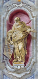 BRESCIA, ITALY, 2016: The fresco of prophet Isaiah of Chiesa di Sant'Afra church by Sante Cattaneo (1739 - 1819) Royalty Free Stock Images
