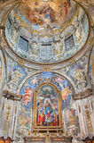 BRESCIA, ITALY - MAY 22, 2016: The Immaculate chapel in church Chiesa di San Francesco d`Assisi with Immaculate altar Royalty Free Stock Photography