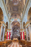 BRESCIA, ITALY - MAY 23, 2016: The nave of church Chiesa di San Faustino e Giovita Stock Photo
