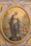 BRESCIA, ITALY - MAY 21, 2016: The painting of Immaculate Conception in church Chiesa di Santa Maria della Carita. By unknown artist of 17. cent royalty free stock photos