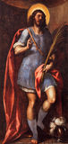 BRESCIA, ITALY - MAY 23, 2016: Painting of St. Faustino in Sant`Afra church by unknown artist of 18. cent. Stock Image
