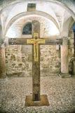 Brescia, Italy, Old Cross in Brescia Church Stock Photo