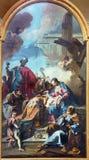 BRESCIA, ITALY, 2016: The painting Three Magi in church Chiesa di Santa Maria dei Miracoli by Giovanni Battista Pittoni Stock Photo