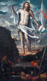BRESCIA, ITALY, 2016: The Resurrection of Jesus in church Chiesa di San Faustino e Giovita by Romanino Royalty Free Stock Photo