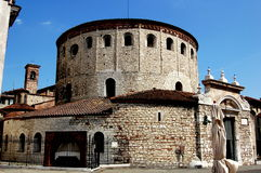 Brescia, Italy: The Rotondo (Winter Catherdral) Stock Photo