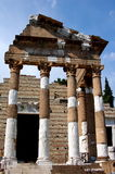 Brescia, Italy: Temple of Vespasian Ruins Stock Photo