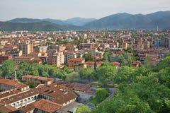 Brescia - la prospettiva sopra la città dal castello Immagine Stock