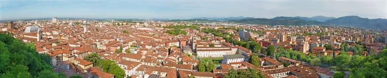 Brescia - la prospettiva sopra la città dal castello - panorama Fotografie Stock
