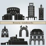 Brescia landmarks and monuments Royalty Free Stock Photo