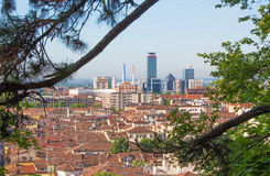 Brescia - The outlook over the city. Royalty Free Stock Image
