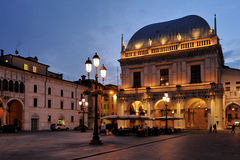 Brescia Piazza Loggia royalty free stock images