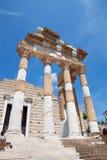 Brescia - The roman ruins of Capitolium Stock Images